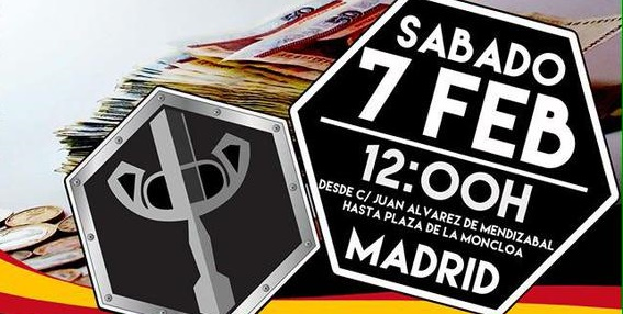 MANIFESTACIÓN en Madrid por la Justicia Social y contra la corrupción democrática. Sábado 7 de febrero a las 12:00 h. ES LA HORA DE LOS PATRIOTAS