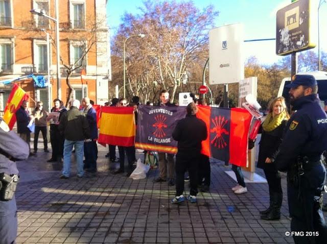 Los patriotas, los únicos que protestaron contra la presencia del pirata Fabián Picardo en Madrid