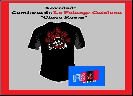 Nuevas camisetas de La Falange Catalana