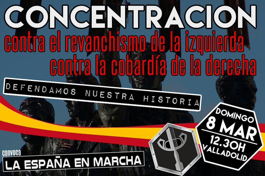 El próximo 8 de marzo en Valladolid, DEFENDAMOS NUESTRA HISTORIA. Concentración de LEM (vídeo)