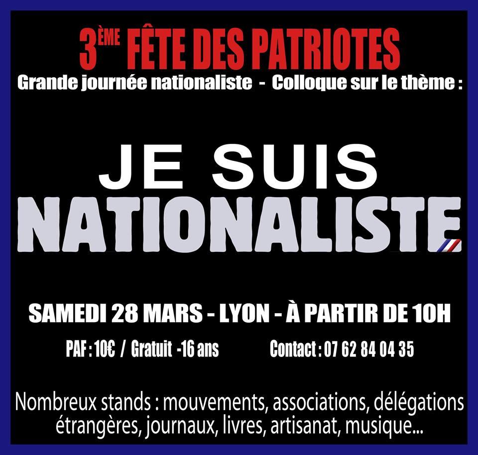 La Falange invitada por Jeune Nation a asistir al tercer evento de los patriotas franceses