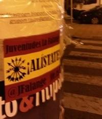 Campaña de afiliación de Juventudes de La Falange en Cantabria