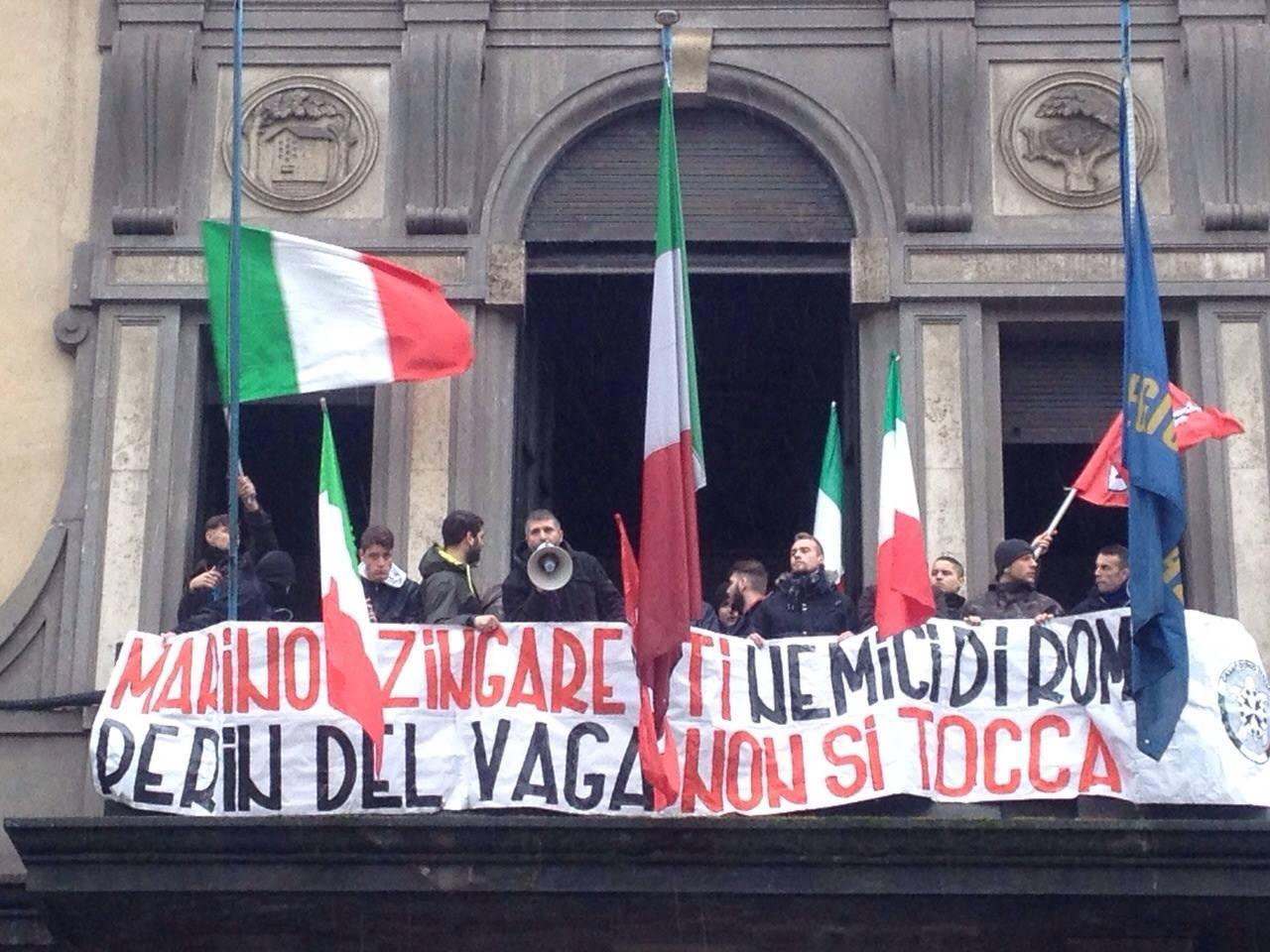 Desalojo de la Sede del Blocco Studentesco en Roma. Los Patriotas, marginados del Sistema.