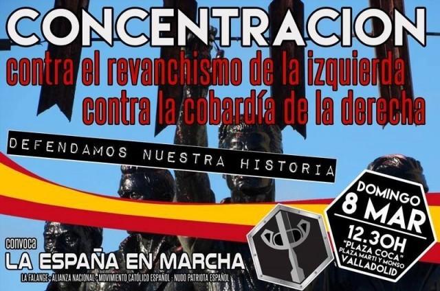Nota de prensa de La España en Marcha sobre la concentración en Valladolid el próximo 8 de Marzo