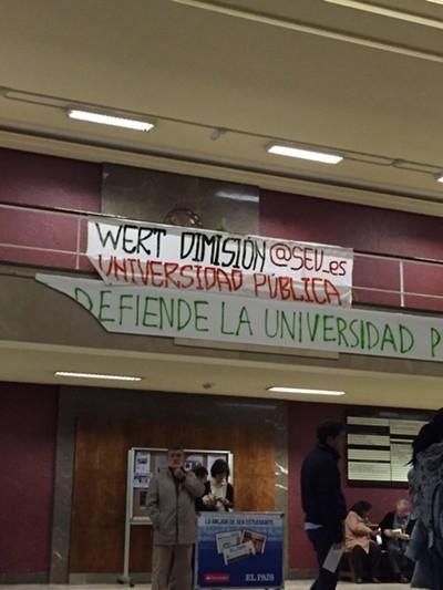 El Sindicato Español Universitario (SEU) en la huelga de estudiantes
