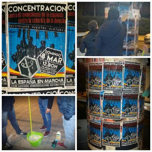 Las calles de Valladolid ya anuncian la concentración del próximo domingo