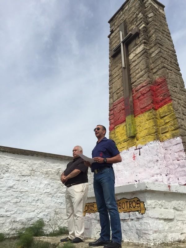 Discurso pronunciado por el Jefe Nacional de La Falange, Manuel Andrino, en el homenaje a los falangistas caídos en la gesta de Alcubierre