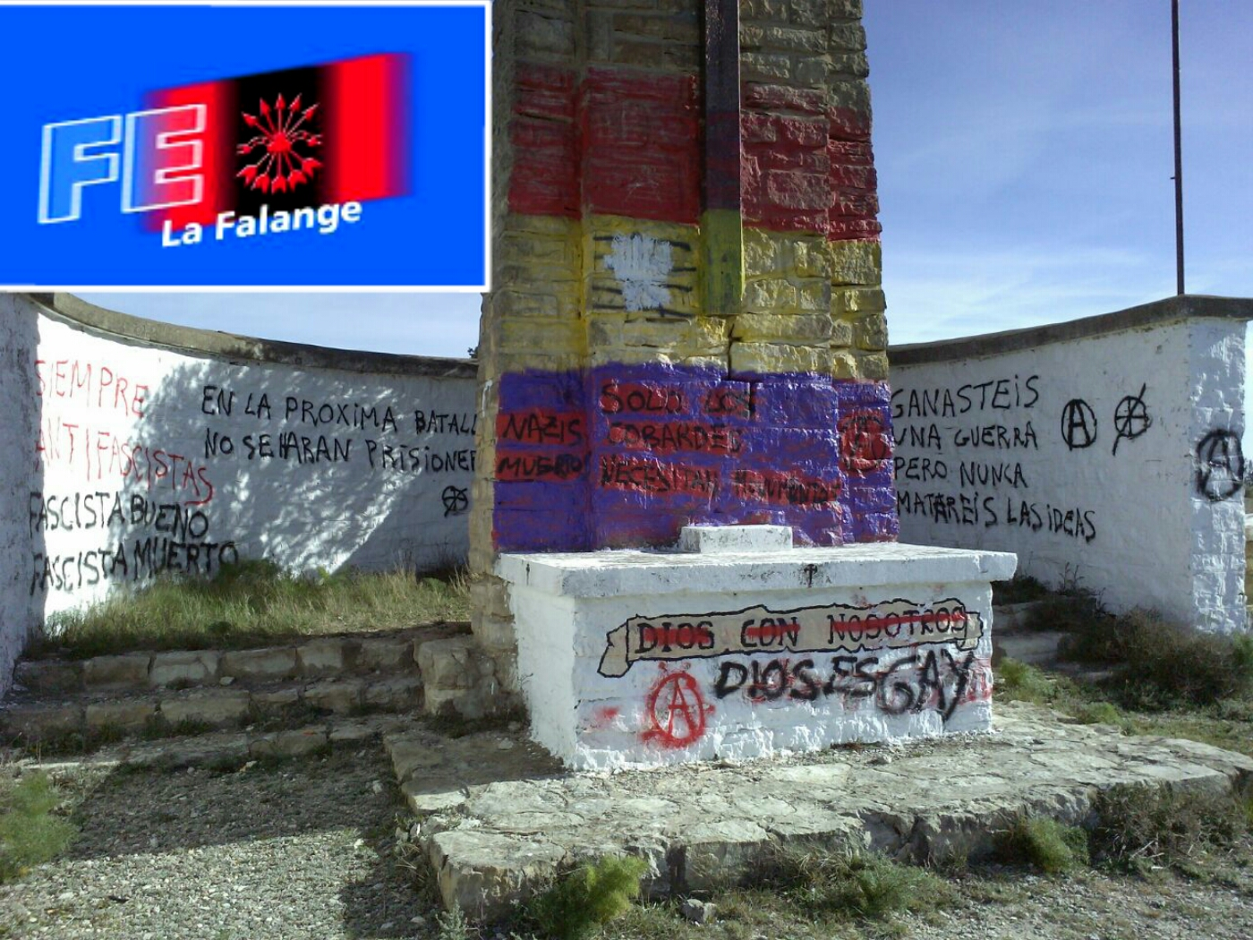 Profanación del monumento a los héroes de la Gesta de Alcubierre