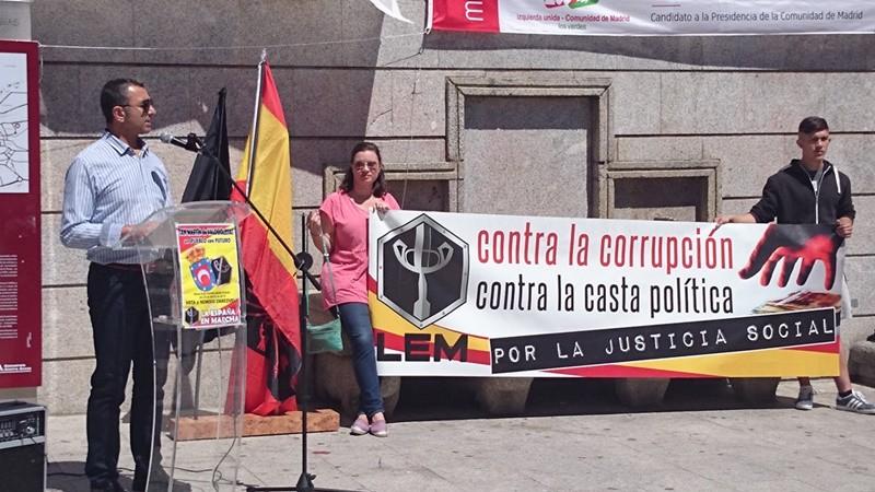 Acto electoral de La España en Marcha en San Martín de Valdeiglesias
