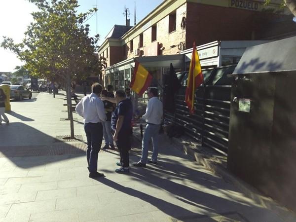 Puesto Electoral Informativo de La España en Marcha y Coalición Nacional en Pozuelo de Alarcón