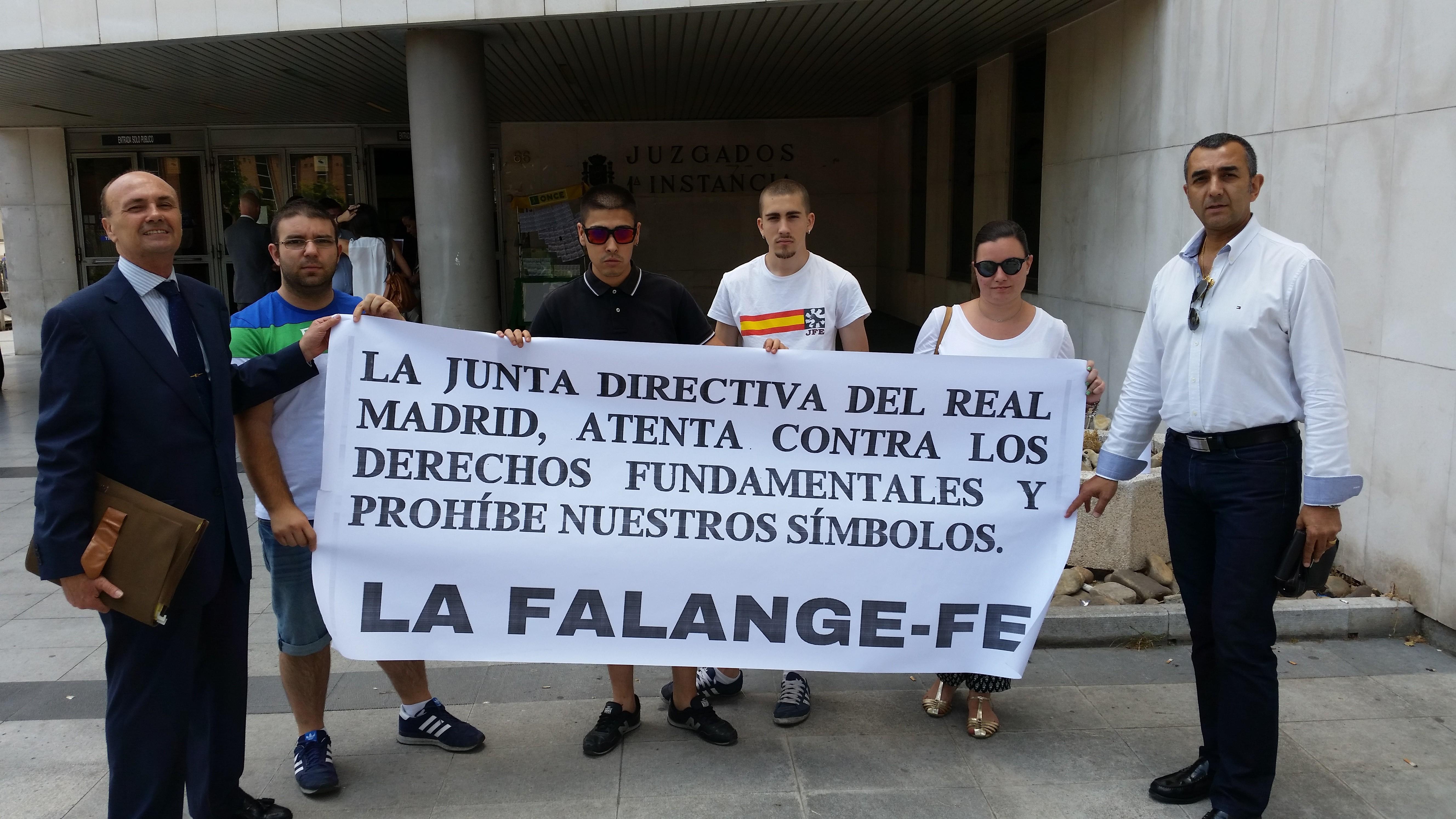 La Falange en el juicio de conciliación contra el presidente del Real Madrid y su Junta Directiva