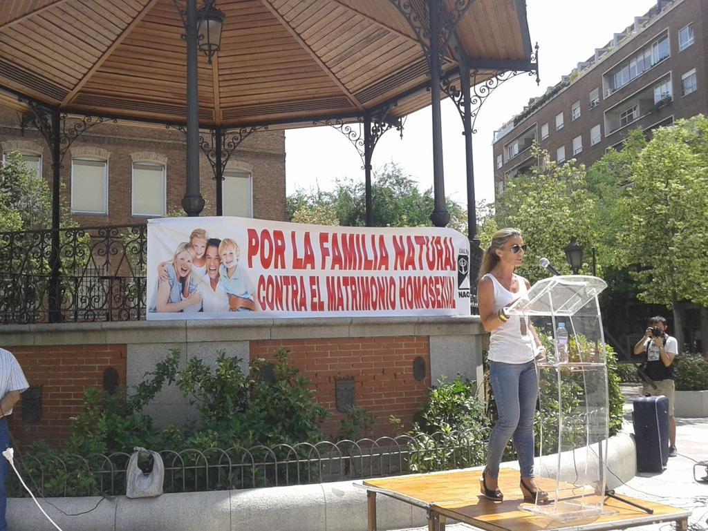 Discurso pronunciado por Begoña Del Arco en el acto por la familia natural en Chamberí