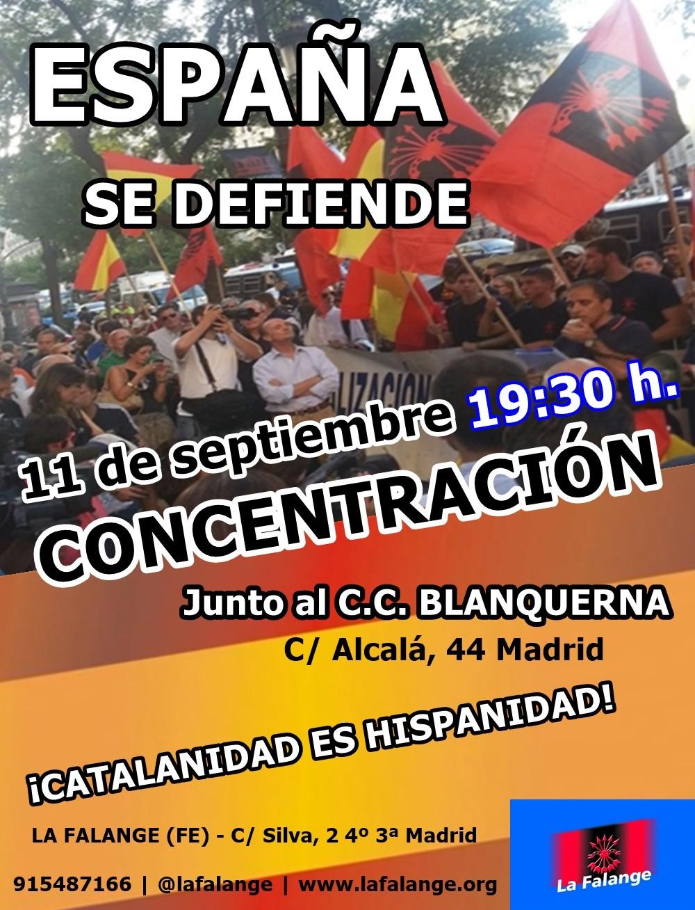 CONCENTRACIÓN de La Falange en Madrid: La Unidad de España se defiende