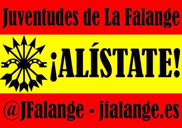 Campaña de las Juventudes de La Falange. ¡Alístate a la España que lucha!
