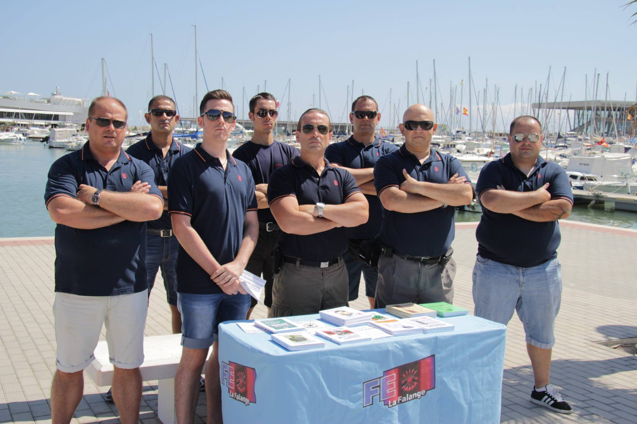 Activismo y homenaje en Dénia de La Falange (FE) de Alicante