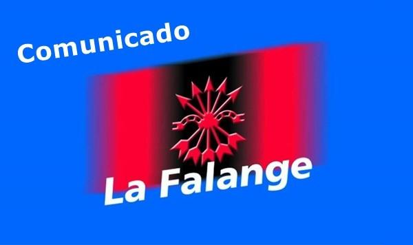 """""""Doble rasero"""". Comunicado de La Falange"""