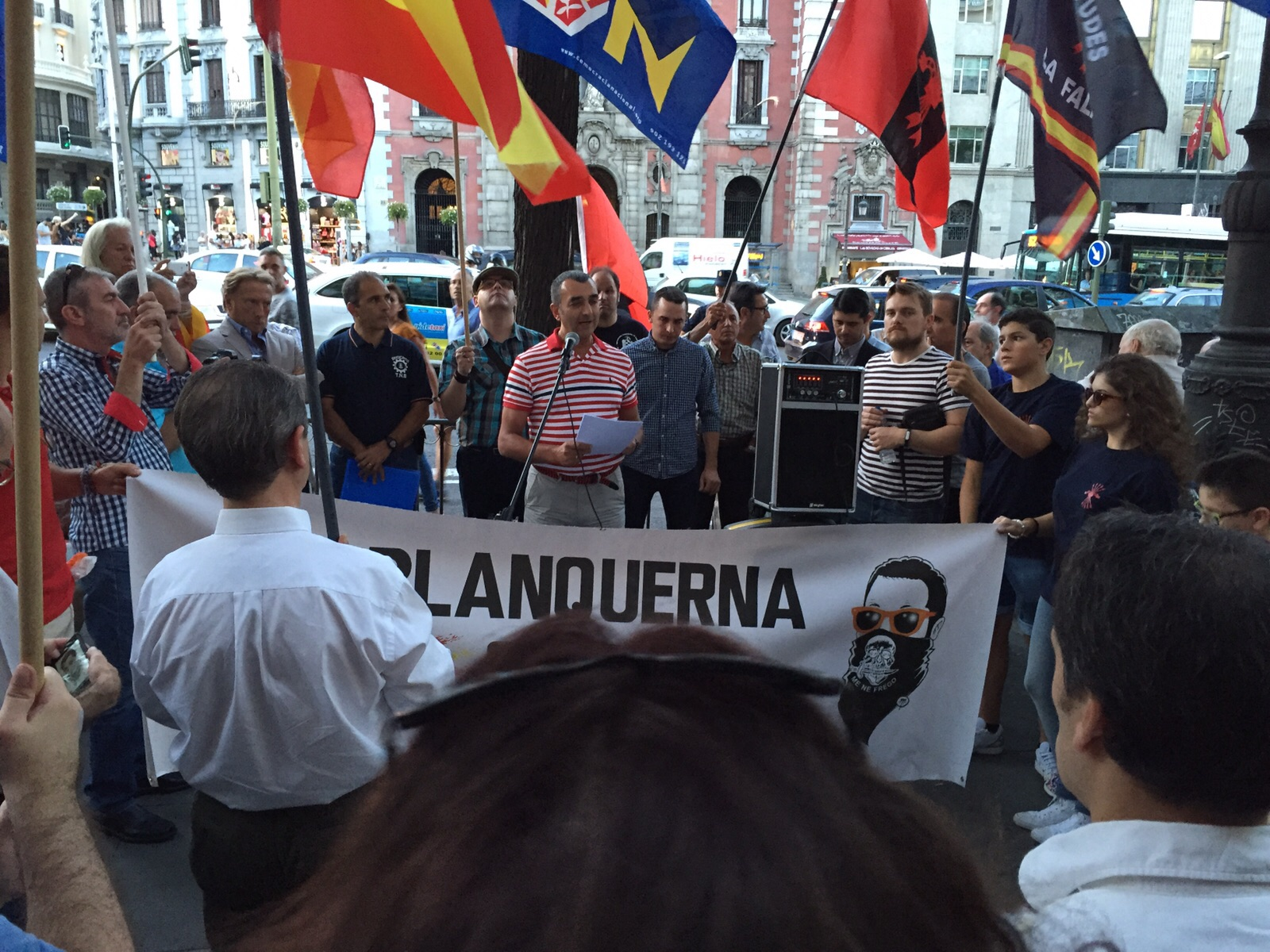 Discurso de Manuel Andrino, Jefe Nacional de La Falange, el pasado 11 de septiembre en Madrid