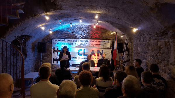 Una delegación de La Falange en las jornadas organizadas por el CLAN (Comité de unión y ayuda nacionalista) en Lyon