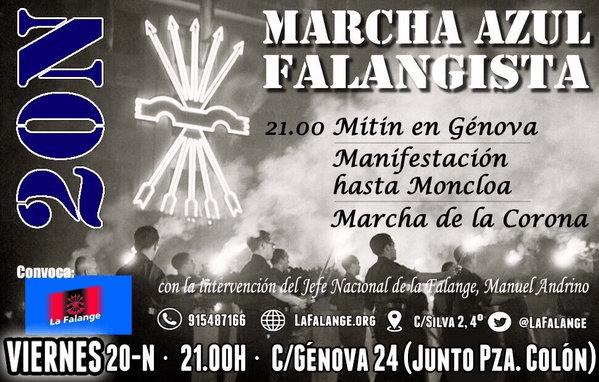 20-N MARCHA AZUL FALANGISTA por JOSÉ ANTONIO PRIMO DE RIVERA (Vídeo)