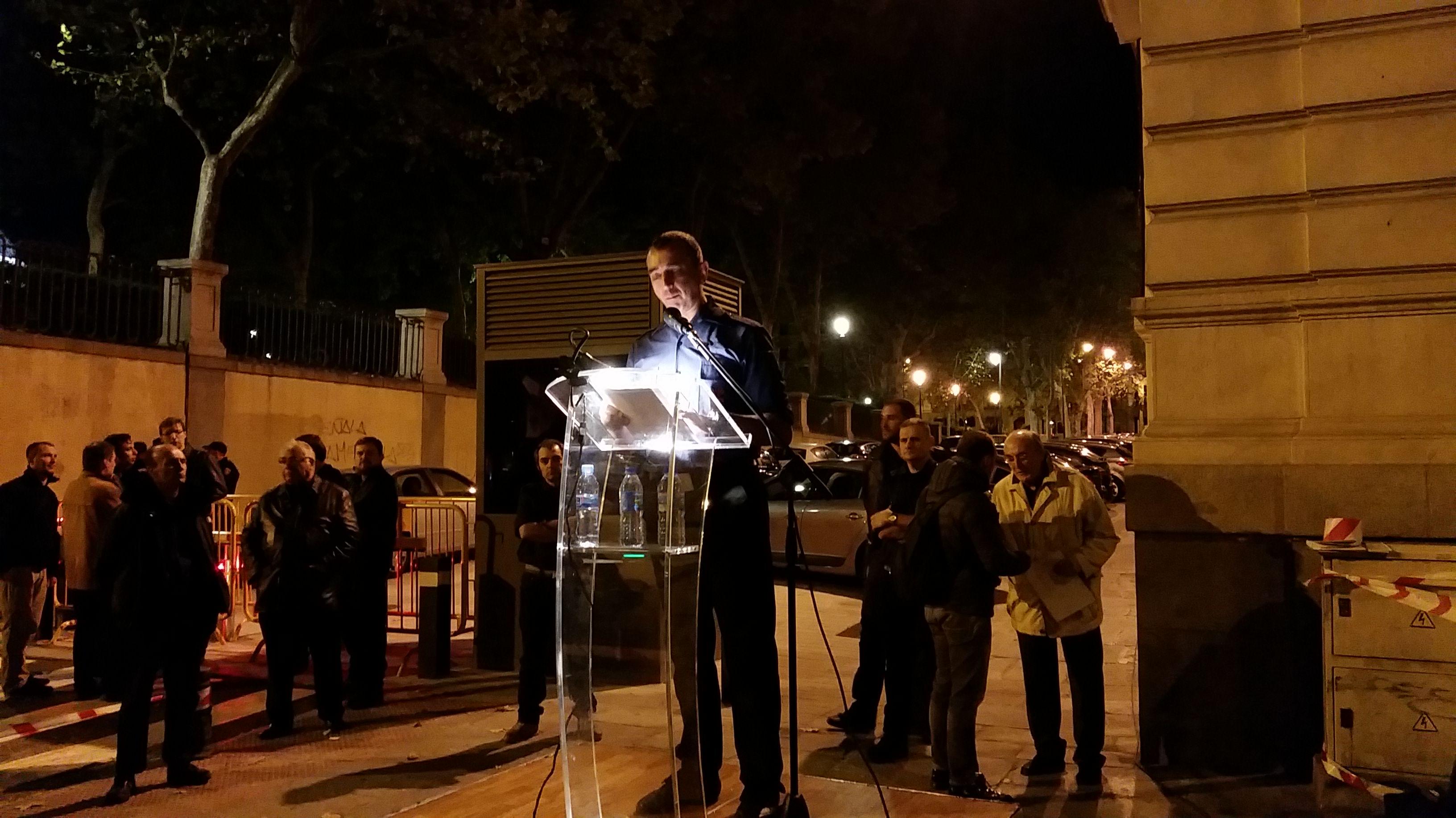 Discurso del Jefe Nacional de La Falange, Manuel Andrino, el 20N en la Calle Génova