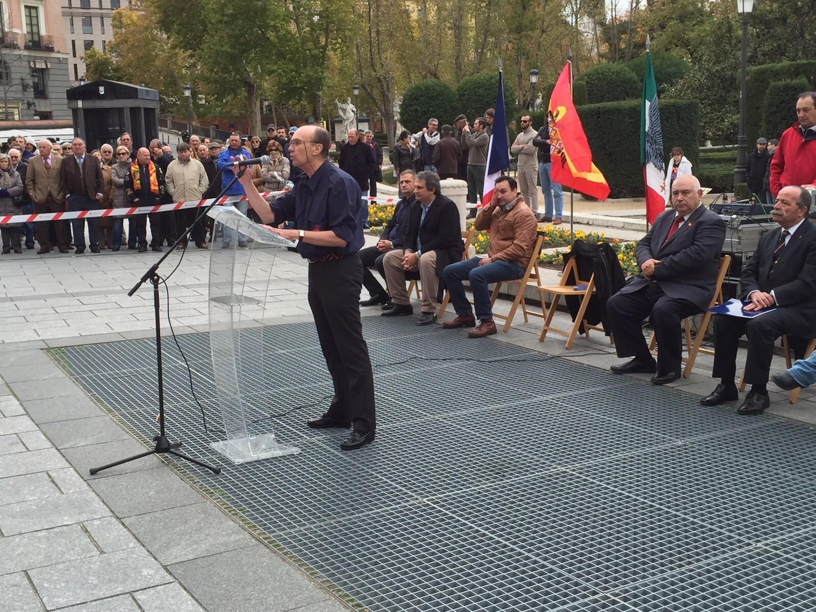 Discurso de Félix Salmerón, Secretario Nacional de Asuntos Jurídicos de La Falange, el pasado 22N en la Plaza de Oriente