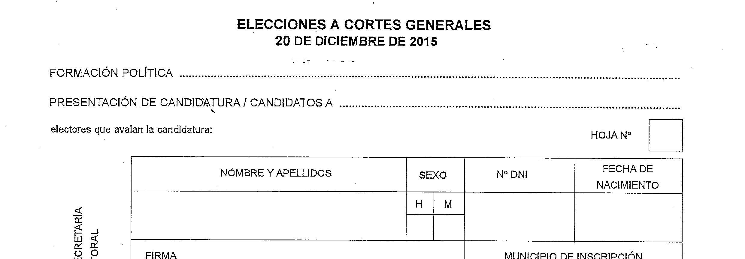 Participa en la recogida de avales para las próximas elecciones del 20-D