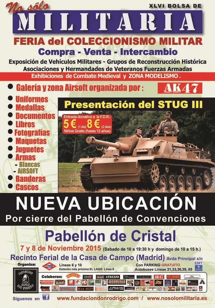 """XLVI Bolsa de """"No sólo Militaria"""". Feria del Coleccionismo militar"""