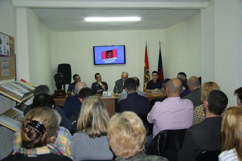 Inauguración de la sede de La Falange en Alicante