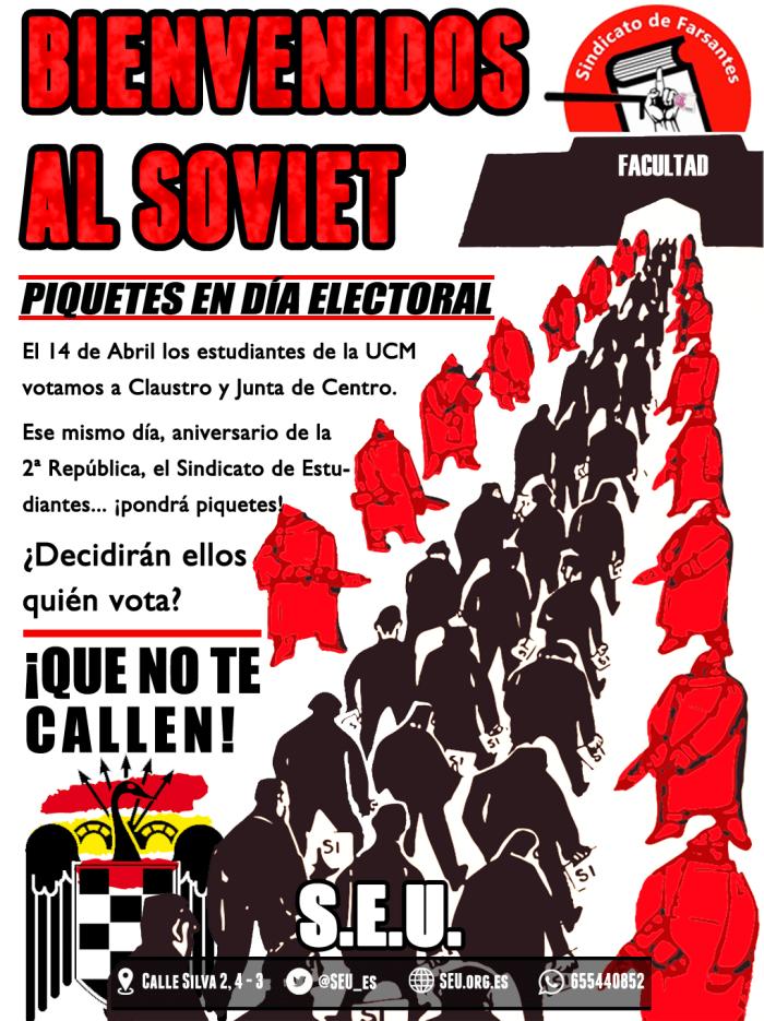 Bienvenidos al Soviet Complutense: piquetes antes de votar