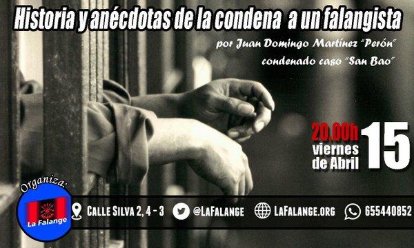 """Vídeo y crónica de la conferencia """"Historia y anécdotas de la condena a un falangista"""", por Juan Domingo Martínez """"Perón"""""""
