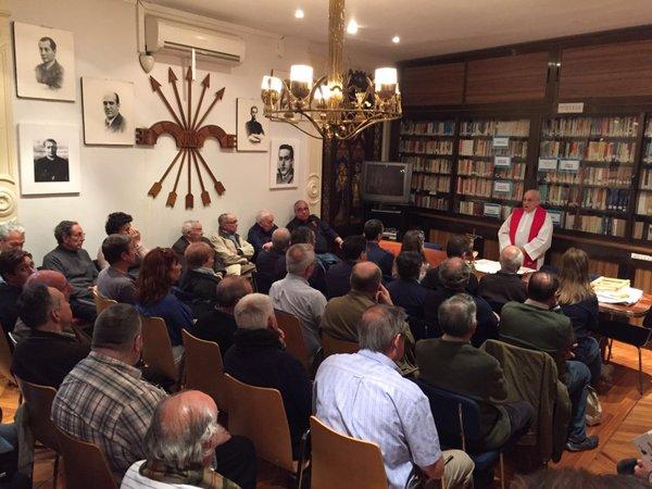 La Hermandad de la Vieja Guardia celebra el CXIII aniversario del nacimiento de José Antonio Primo de Rivera