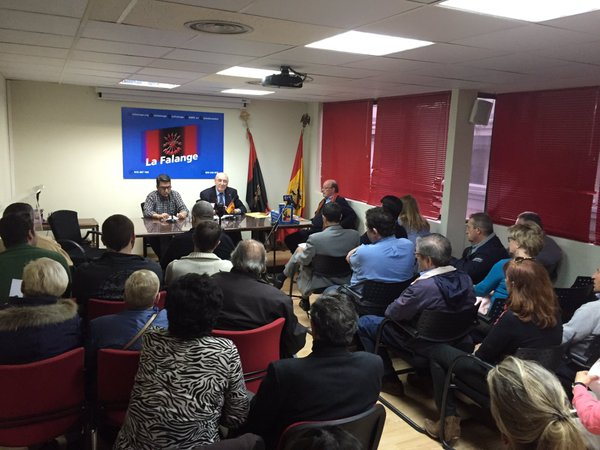 """Conferencia y presentación del libro de José Luis Jerez """"La Falange en Vascongadas"""""""