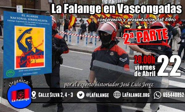 """Conferencia y presentación del libro de José Luis Jerez """"La Falange en Vascongadas"""" (2ª parte)"""