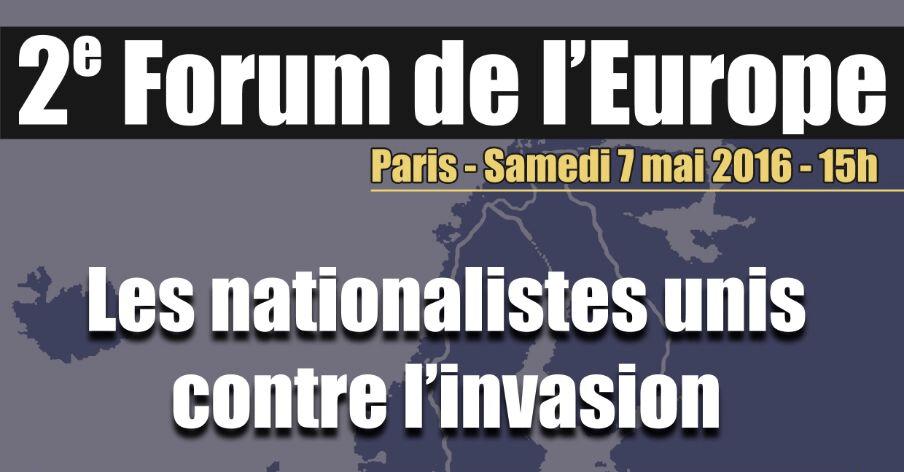 Sábado 7 de Mayo: La Falange acudirá a París al Fórum de Europa contra la invasión