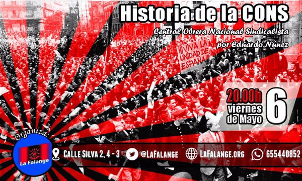 "Conferencia ""Historia de la CONS (Central Obrera Nacional Sindicalista), por Eduardo Núñez"