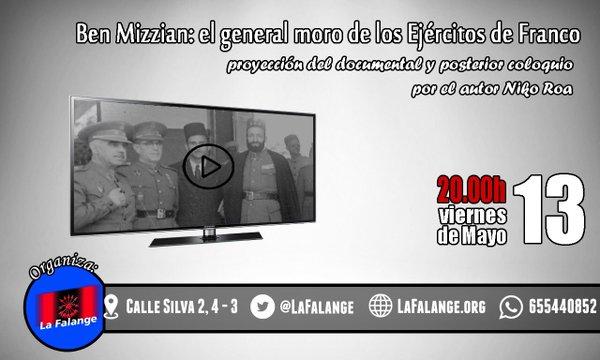 """Proyección del documental de Niko Roa: """"Ben Mizzian: el general moro de los Ejércitos de Franco"""