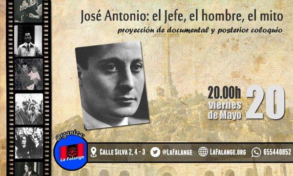 """Proyección del documental """"José Antonio: el jefe, el hombre, el mito"""""""