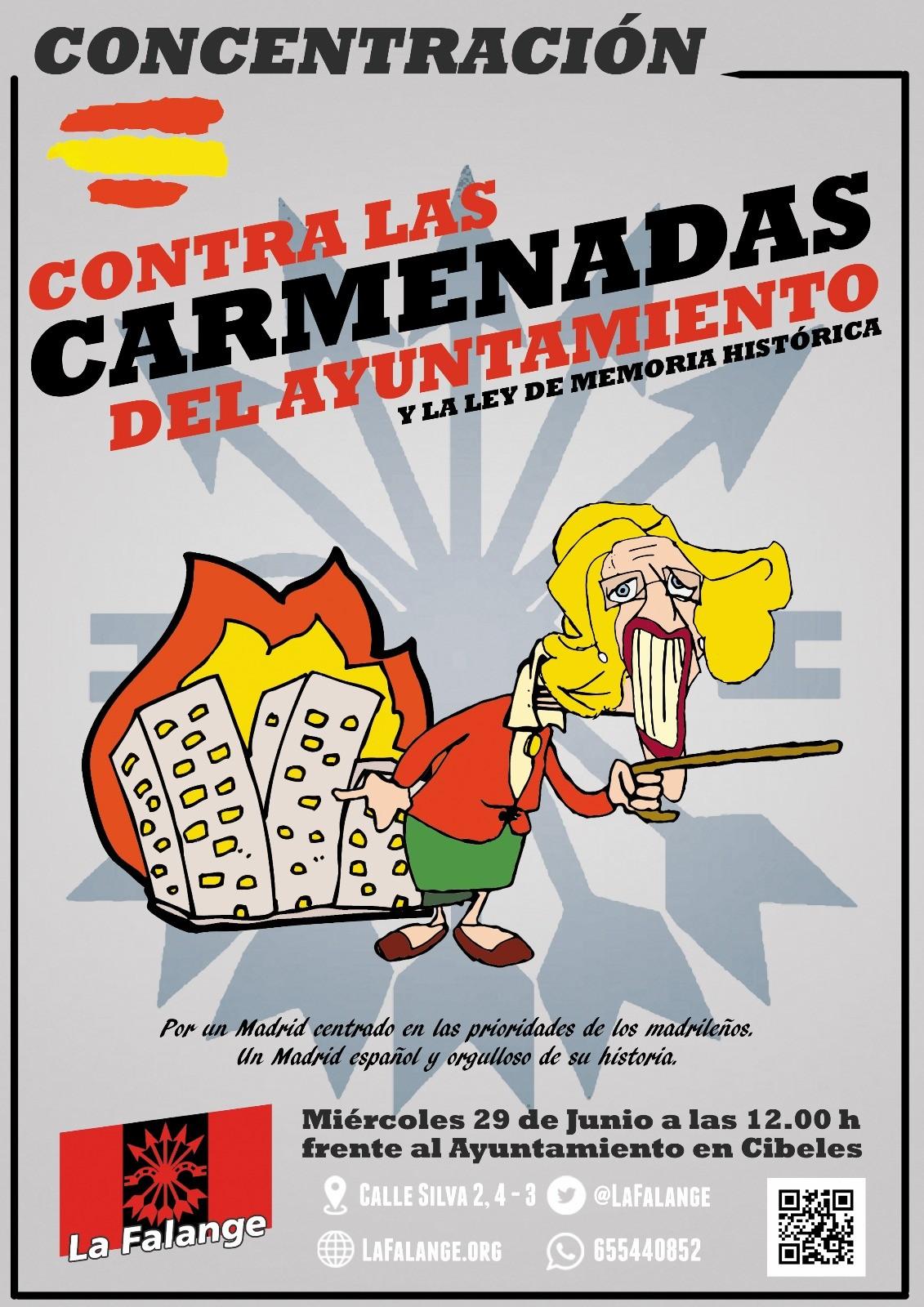 29 de Junio a las 12:00 h. Concentración frente al Ayuntamiento de Madrid, Plaza de Cibeles
