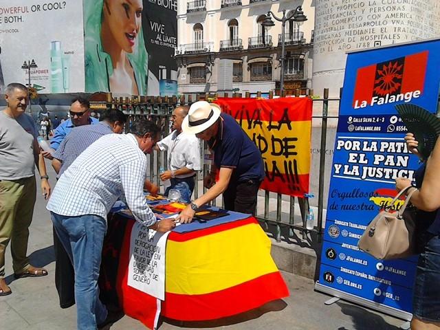 """La Falange de Madrid por la derogación de la """"ley de memoria histórica"""""""