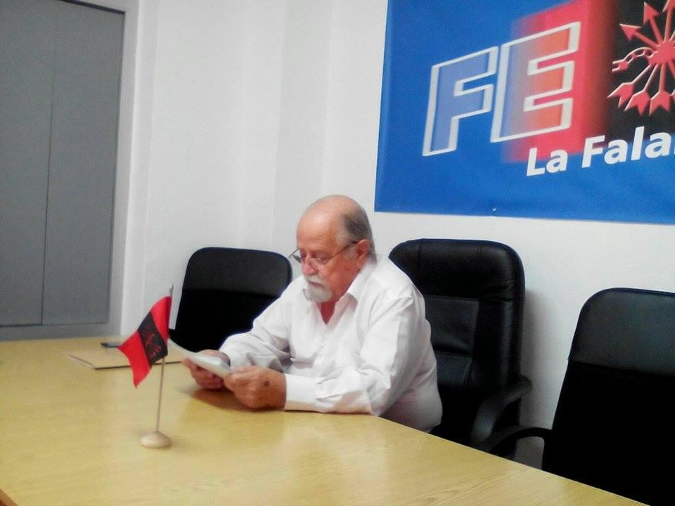 "La Falange de Murcia entrega el I galardón cultural ""Manuel Bruquetas"""
