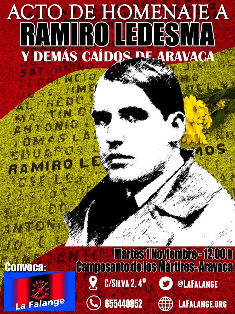 Acto de Homenaje a Ramiro Ledesma Ramos