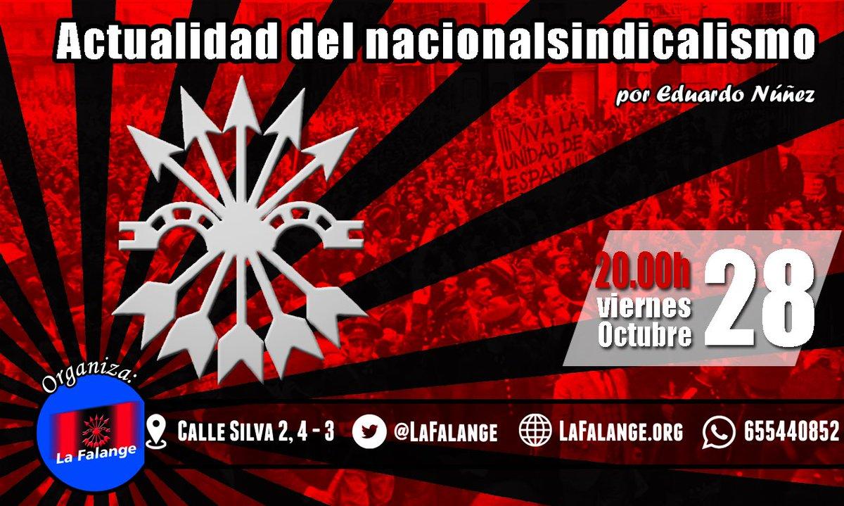 """""""Actualidad del Nacionalsindicalismo"""". Próxima conferencia a cargo de Eduardo Núñez"""