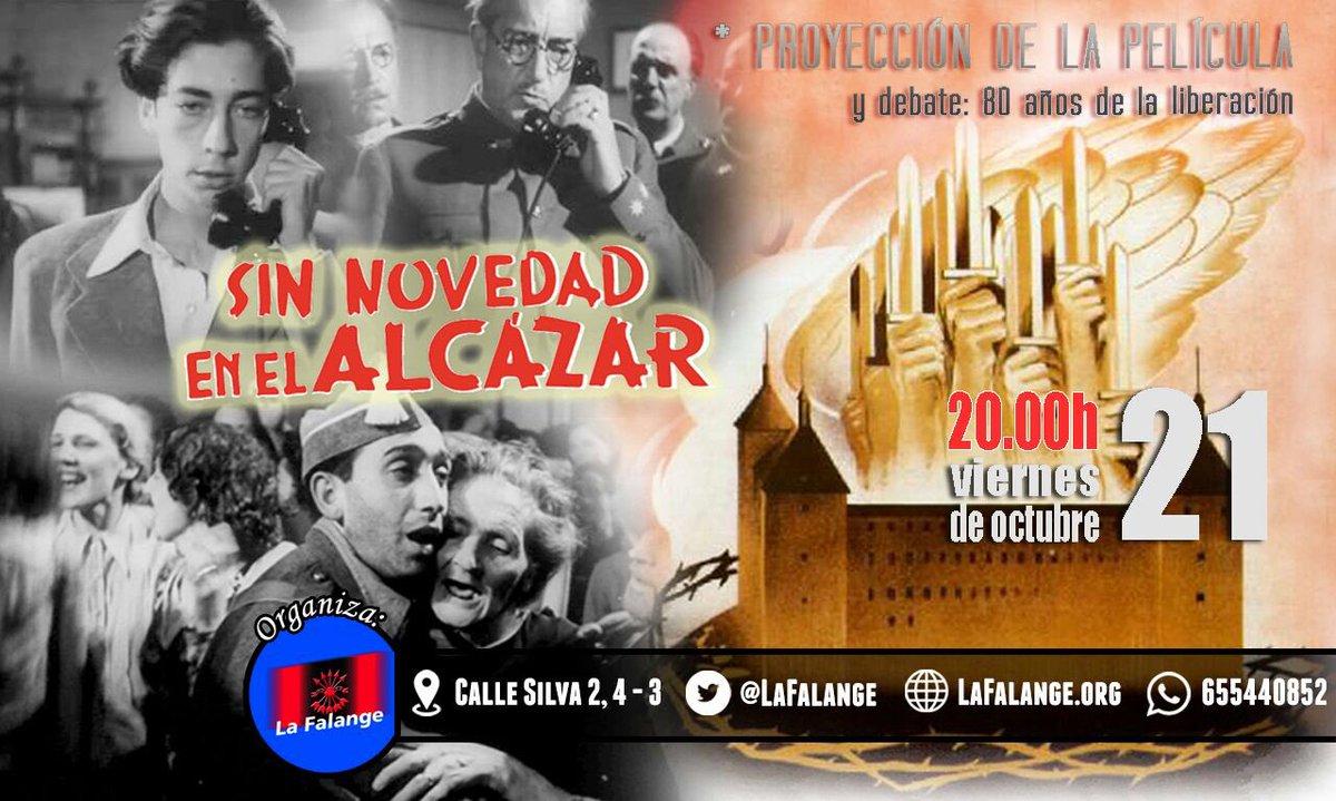"""Proyección de la película """"Sin novedad en el Alcázar"""" y posterior debate: 80 años de la liberación"""