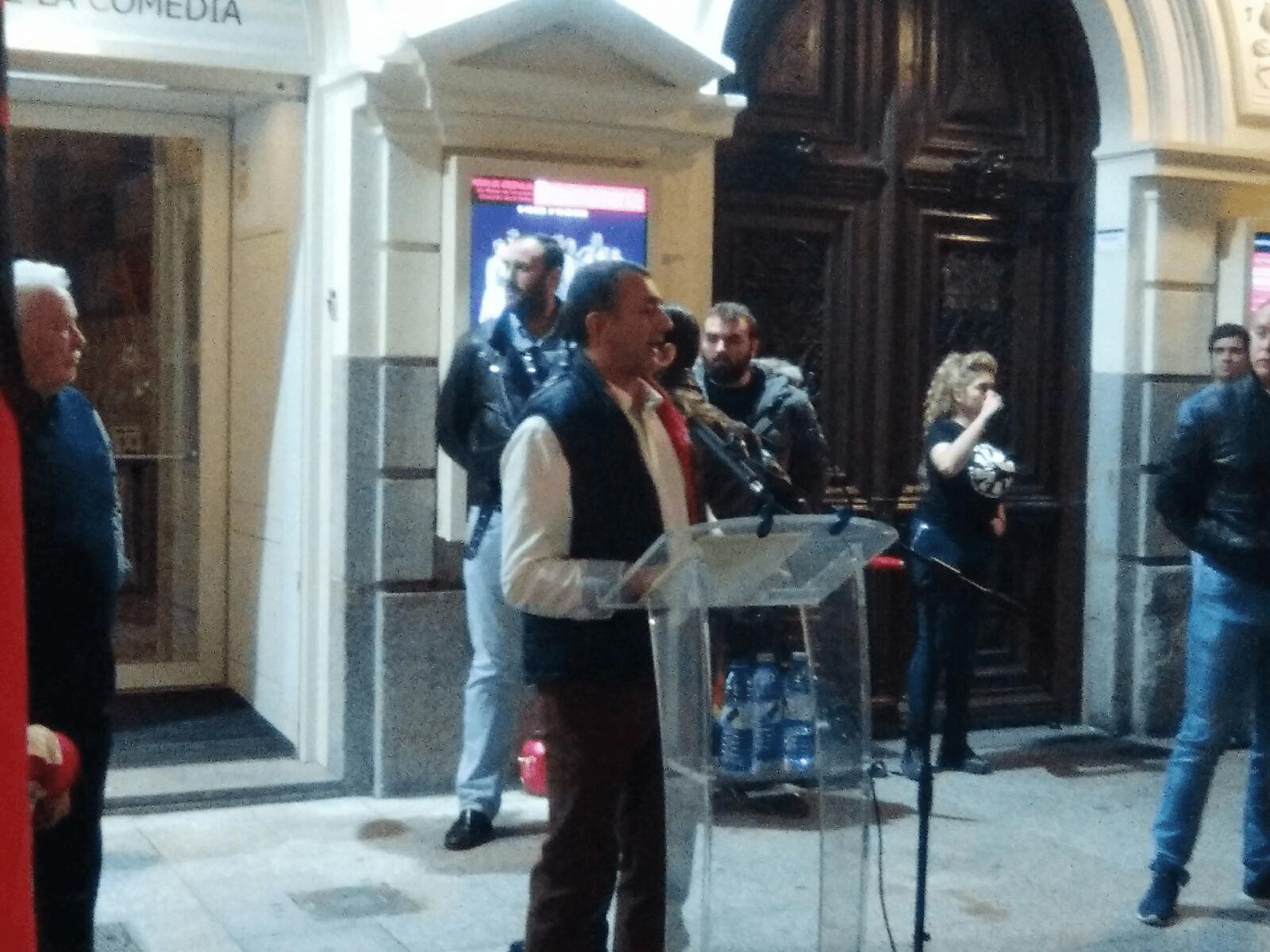 Discurso de Manuel Andrino, Jefe Nacional de La Falange, el pasado 29 de Octubre en el Teatro de la Comedia