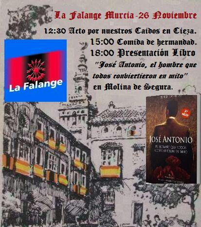 26-N. Acto de Homenaje a nuestros Caídos en Cieza organizado por La Falange de Murcia