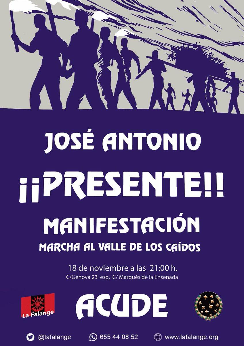 José Antonio ¡¡Presente!! 18-N Manifestación y Marcha al Valle de los Caídos (Vídeo)