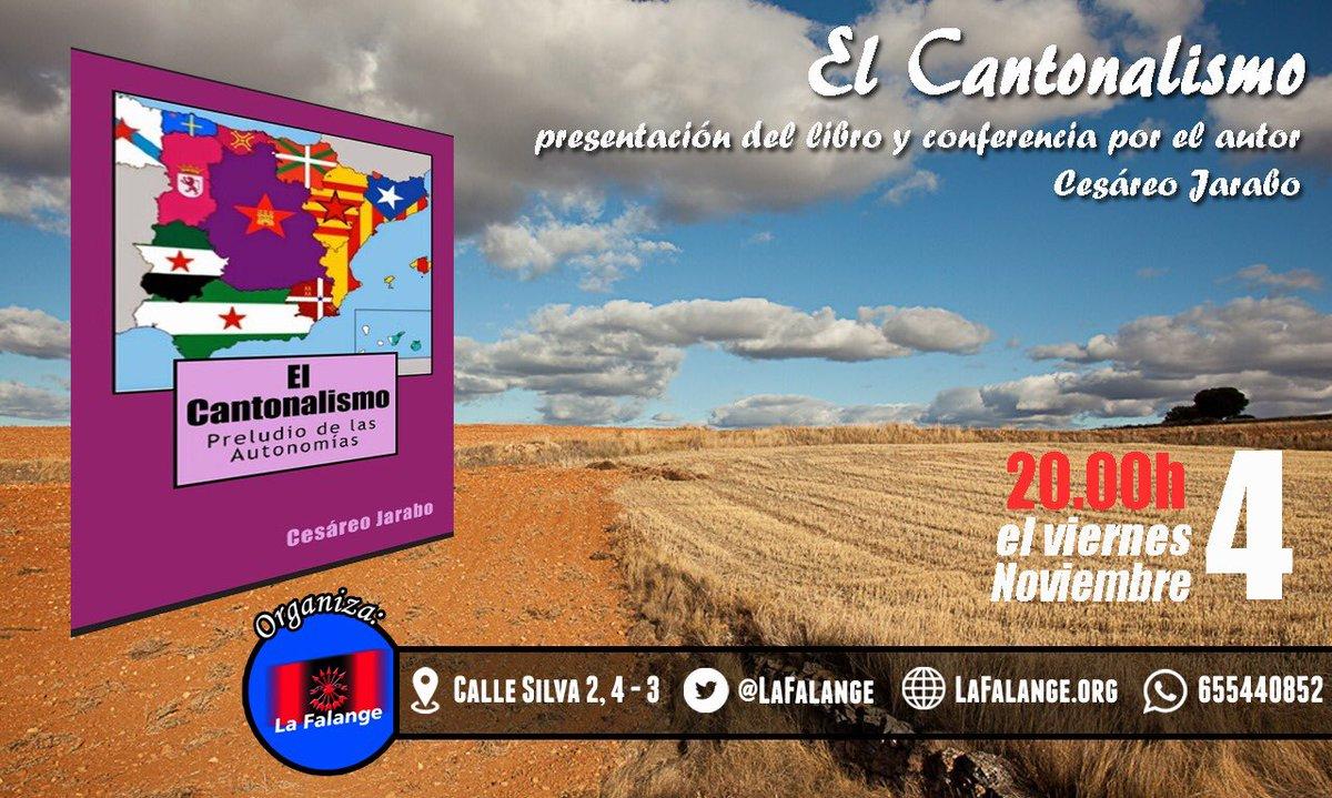 """Presentación del libro de Cesáreo Jarabo, """"El Cantonalismo"""". Preludio de las Autonomías"""