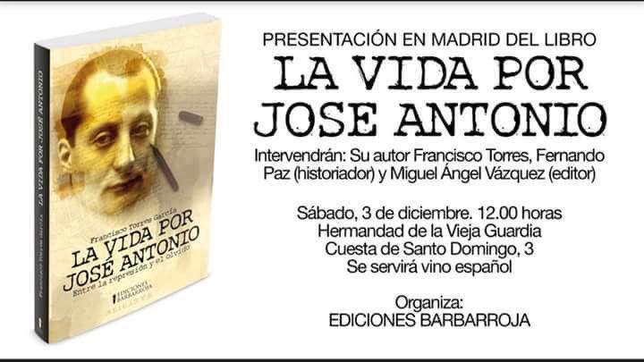 """Presentación en Madrid del libro """"La vida por José Antonio"""""""