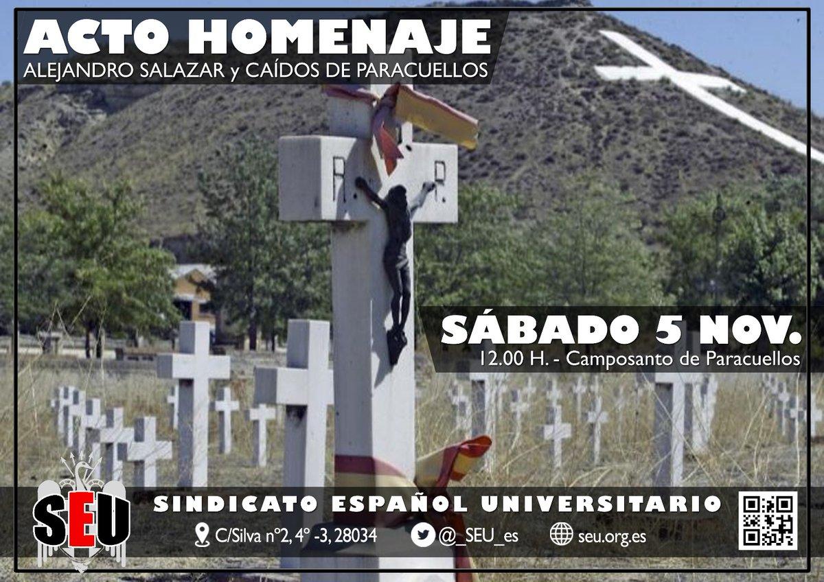 Acto de Homenaje a Alejandro Salazar y Caídos de Paracuellos
