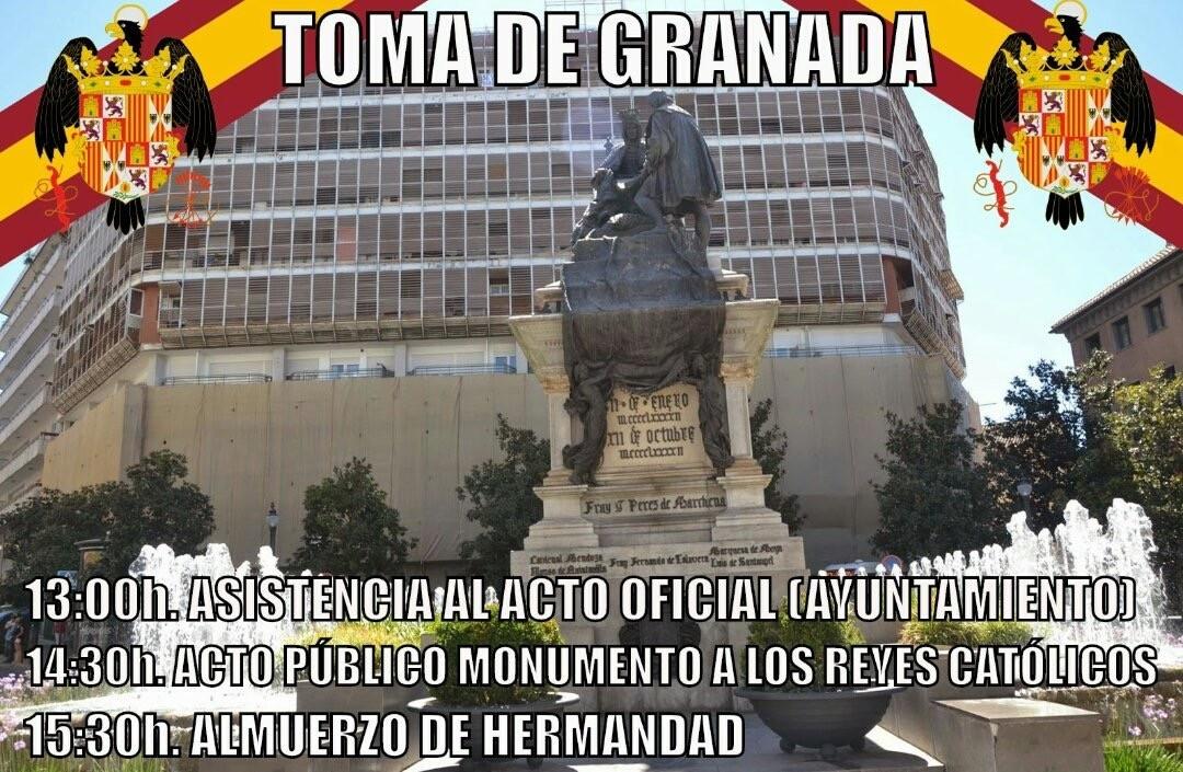 La Falange acudirá al acto conmemoración de la Toma de Granada